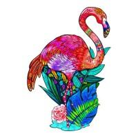 Holzpuzzle Flamingo