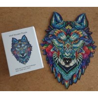 Holzpuzzle Wolf
